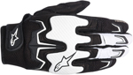 Alpinestars Fighter Mesh Short Cuff Touch Screen Motorcycle Gloves (Black/White)