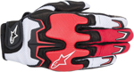 Alpinestars Fighter Mesh Short Cuff Touch Screen Motorcycle Gloves (Black/White/Red )