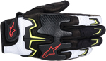 Alpinestars Fighter Mesh Short Cuff Touch Screen Motorcycle Gloves (Black/White/Yellow )