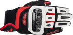 ALPINESTARS GP Air Textile/Leather Short Cuff Touch Screen Motorcycle Gloves (Black/White/Red)