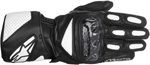 Alpinestars SP-2 Vented Long Cuff Leather Motorcycle Gloves (Black/White)