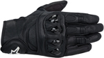 ALPINESTARS Celer Leather Short Cuff Touch Screen Motorcycle Gloves (Black)