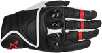 Alpinestars Celer Leather Short Cuff Touch Screen Motorcycle Gloves (Black/White/Red)