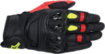 ALPINESTARS Celer Leather Short Cuff Touch Screen Motorcycle Gloves (Black/Red/Yellow )