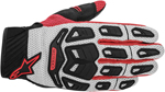 ALPINESTARS Atacama Air Mesh/Leather Short Cuff Motorcycle Gloves (Gray/Red)