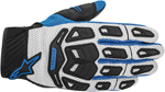ALPINESTARS Atacama Air Mesh/Leather Short Cuff Motorcycle Gloves (Blue/Gray)