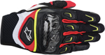 ALPINESTARS S-MX 2 Air Carbon Mesh Short Cuff Touch Screen Motorcycle Gloves (Black/White/Yellow/Red)