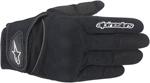 Alpinestars Spartan Textile Short Cuff Motorcycle Gloves (Black)