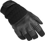 BILTWELL Bantam Leather/Textile Motorcycle Gloves (Black)