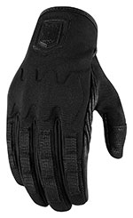 ICON 1000 FORESTALL Textile/Leather Motorcycle Gloves (Black)