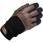 BILTWELL Bantam Leather/Textile Motorcycle Gloves (Chocolate/Black)