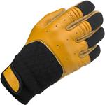 BILTWELL Bantam Leather/Textile Motorcycle Gloves (Tan/Black)