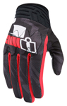 ICON Anthem PRIMARY Textile/Leather Touchscreen Motorcycle Gloves (Black/Red)