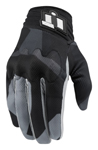 ICON Anthem DEPLOYED Touchscreen Motorcycle Gloves (Grey)