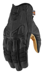 ICON 1000 AXYS Leather Motorcycle Gloves (Black)