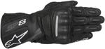 Alpinestars SP-8 V2 Touchscreen Leather Motorcycle Gloves (Black/Grey)