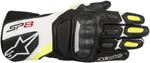 Alpinestars SP-8 V2 Touchscreen Leather Motorcycle Gloves (Black/White/Flo Yellow)