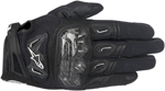Alpinestars SMX-2 Air Carbon V2 Touchscreen Leather Motorcycle Gloves (Black)