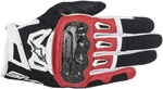 Alpinestars SMX-2 Air Carbon V2 Touchscreen Leather Motorcycle Gloves (Black/Red/White)