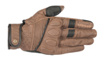 Alpinestars Oscar CRAZY EIGHT Heritage-Inspired Leather Touchscreen Riding Gloves (Brown/Black)