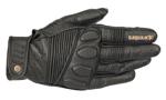 Alpinestars Oscar CRAZY EIGHT Heritage-Inspired Leather Touchscreen Riding Gloves (Black/Black)