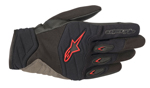 Alpinestars SHORE Leather/Textile/Mesh Touchscreen Riding Gloves (Black/Red)