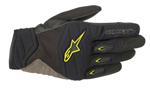 Alpinestars SHORE Leather/Textile/Mesh Touchscreen Riding Gloves (Black/Yellow)