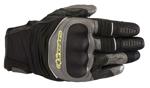 Alpinestars CROSSER Air Leather/Mesh Touchscreen Touring Gloves (Black/Grey/Yellow)