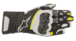 Alpinestars SP-2 V2 Leather Touchscreen Riding Gloves (Black/White/Yellow)