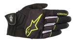 Alpinestars ATOM Leather/Textile/Mesh Touchscreen Riding Gloves (Black/Yellow)