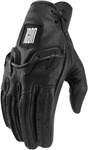 Icon 1000 BASERUNNER Leather Riding Gloves (Black)