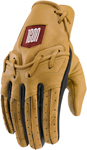 Icon 1000 BASERUNNER Leather Riding Gloves (Tan)
