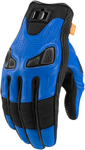 Icon Motosports AUTOMAG 2 Leather Touchscreen Gloves (Blue)