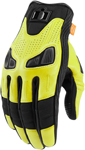 Icon Motosports AUTOMAG 2 Leather Touchscreen Gloves (Hi-Viz)