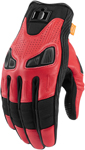 Icon Motosports AUTOMAG 2 Leather Touchscreen Gloves (Red)
