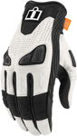 Icon Motosports AUTOMAG 2 Leather Touchscreen Gloves (White)