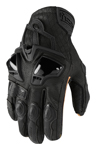 Icon Motosports HYPERSPORT Short Leather Riding Gloves (Black)