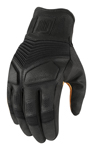 Icon 1000 NIGHTBREED Touchscreen Riding Gloves (Black)