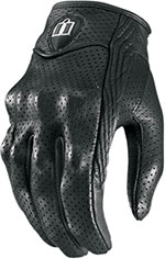 ICON Ladies Pursuit Perforated Short Motorcycle Gloves (Black)