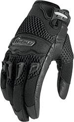 ICON Ladies Twenty-Niner Short Gauntlet Motorcycle Gloves (Black)