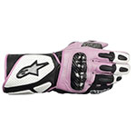 ALPINESTARS Stella SP-2 Leather Motorcycle Gloves (White/Black/Pink)