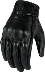 ICON Ladies Pursuit Touchscreen Motorcycle Gloves (Stealth/Black)