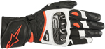 Alpinestars Women's Stella SP-1 V2 Leather Riding Gloves (Black/White/Fluo Red)