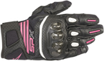 Alpinestars Women's Stella SP-X Air Carbon V2 Leather Riding Gloves (Black/Pink)