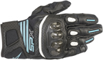 Alpinestars Women's Stella SP-X Air Carbon V2 Leather Riding Gloves (Black/Teal Blue)