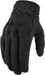Icon Women's ANTHEM 2 Mesh/Leather CE Certified Gloves (Stealth Black)