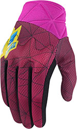 ICON Ladies ANTHEM BLENDER Motorcycle Gloves (Pink)