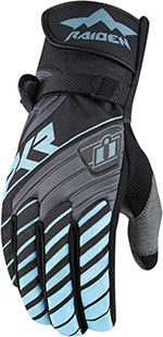 ICON Ladies RAIDEN DKR Dual Sport Motorcycle Gloves (Charcoal)