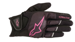Alpinestars Women's Stella ATOM Leather/Textile/Mesh Touchscreen Riding Gloves (Black/Pink)