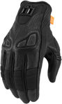 Icon Motosports Women's AUTOMAG 2 Leather Touchscreen Gloves (Black)
